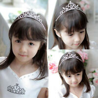 Kid Girl Crystal Tiara Hair Band Rhinestone Bridal Princess Prom Crown Headband