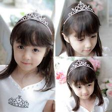 Kid Girl Crystal Tiara Hair Band Rhinestone Bridal Princess Prom Crown Headband