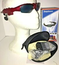 Red Flip Sunglasses 1 GB MP3  NIB Men Women Youth Music Boxed & Charger