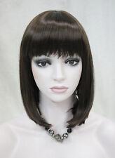 Girl Excellent BOB Dark Brown Short Straight Women Ladies Daily wig FTLD087