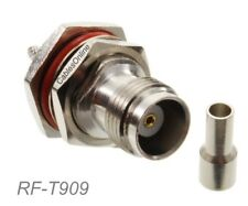 TNC Female Bulkhead Crimp Connector w/Solder-window for RG316/RG174/LMR100 Coax