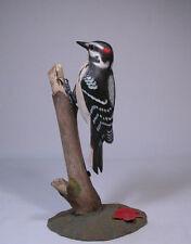 """7-1/2"""" Hairy Woodpecker Orig Bird Carving Wood/Birdhug"""