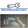 4 IKEA Hanger Bolt Metric Wood Thread for Beds Part# 114334 with 4 Nuts & Wrench