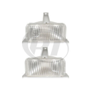 Corner Signal Lights Pair Set for 83-88 Chevy Suburban/C10/K10 Left & Right