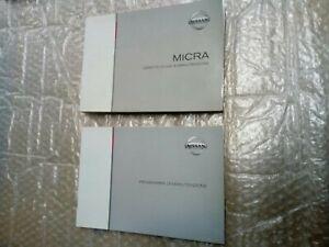 Libretto uso e manutenzione Nissan Micra k12 agosto 2003 mk3 terza serie