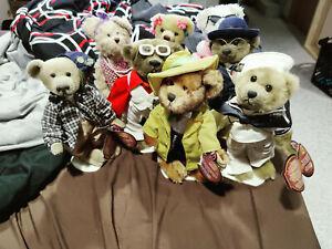 LOT OF 8 PICKFORD BRASS BUTTON BEAR 20TH CENTURY MOOKIE, CASEY, BENNETT, LUCY