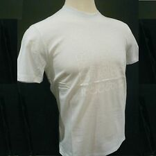 NWT $160 Cerruti 1881 Cotton T-Shirt in White with Embellished Logo Size Large