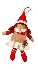 My Doll Bambola Elfo Natale con orologio abito beige  Addobbo albero cod. GZ005