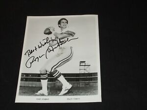 DALLAS COWBOYS FOOTBALL NFL ROGER STAUBACH SIGNED AUTOGRAPHED 8 X 10 PHOTOGRAPH