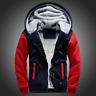 Brand Men Boys Fleece Lined Thicken Hoodies Sweatshirt Winter Zipper Jacket Coat