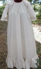 Ladies Nightgown cotton tan & cream ruffle 1X 22 24 soft cozy modest long