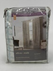 """Allen & Roth NELLISTON-MINERAL  #0792503 Back Tab Panel Lined Curtain 54""""x84"""""""