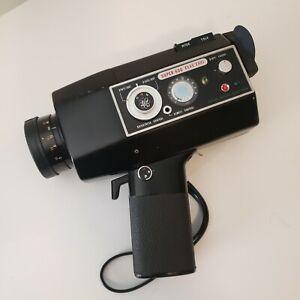 Vintage 8mm Movie Camera Yashica Super 600 Electro w/ Case, Key & Remote