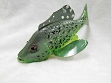 Spearing Decoy, Hand Carved Wooden Crappie Folk Art