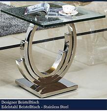 Designer jade mesa auxiliar mesa de acero inoxidable mesa de vidrio vidrio noble alto brillo