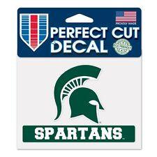 "Michigan State Spartans 4""x5"" Perfect Cut Decal NEW NCAA Auto Car Emblem Sticker"