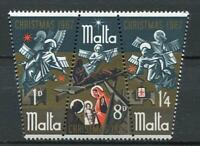 29782) Dealer Stock Malta 1967 MNH New Christmas 3v Strip (X10 Sets)