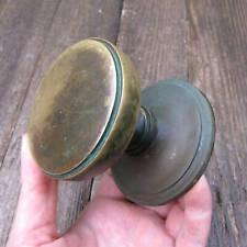 More details for vintage brass circular centre door pull knob handle