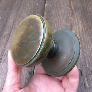 Vintage Brass Circular Centre Door Pull Knob Handle