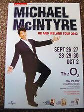 MICHAEL McINTYRE TOUR 2012 LONDON A4 POSTER