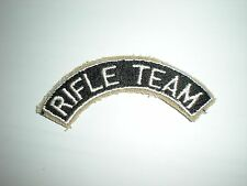 US ROTC RIFLE TEAM TAB PATCH