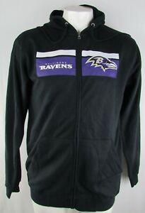 Baltimore Ravens NFL Majestic Men's Black Full-Zip Hoodie