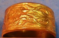 VINTAGE JEWELRY GOLD BANGLE New York Metro Museum of Art Replica holiday GIFT