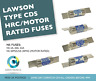 LAWSON NS 2A 20A 32A 20M25 & 20M32 TYPE CDS HRC/MOTOR RATED FUSES 415V AC 80KA