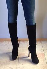 BIONDINI Echt-Wild-Leder Knie Stiefel High Heels langer Schaft 42 sehr Selten