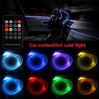 4x RGB LED Neon EL Lichtleiste Auto Innenraum Innenraumbeleuchtung Sound Control