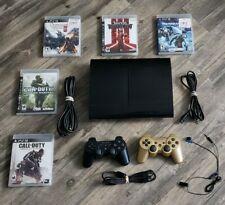 Sony PlayStation 3 250GB PS3 Super Slim Console Bundle 2 Controllers CECH-4001B