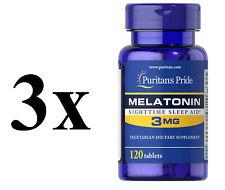 Puritan's Pride Melatonin 3mg 240 Capsules UK Stock