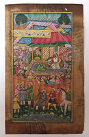 Old Early Persian Court Scene Handmade Miniature Handcrafted Persian Art