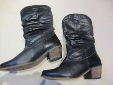 Schuh Noir Cuir Cow-boy western boots UK 5 EU 38