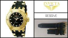 Black Silicone Rubber Watch Band Strap For Invicta Subaqua RESERVE