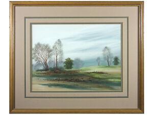 Woodland Landscape - Watercolour, signed original art. Landscape Painting Framed