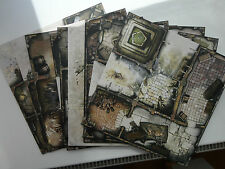 Zombicide Black Plague 9 Tiles from core game. Unused