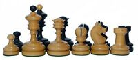 Reproduction Vintage 1930 German Knubbel Chess Pieces in Ebonised