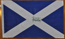 Jackie Stewart - Autographed - Signed 11X17 inches Scottish Flag with Proof