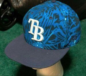 Tampa Bay Devil Rays TB New Era Authentic MLB Cap Hat Palm Tree Design Snapback