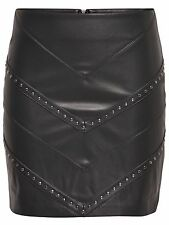 44/6 NEU ONLY Damen kurz Lederimitat Rock onlCARRIE FAUX LEATHER SKIRT  Gr. 38