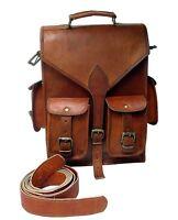 Leather Backpack Bag Rucksack Men Women Travel Satchel School Shoulder Laptop