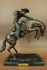 Frederick Remington 'Wooly Chaps' Bronze Statue Horse Western reproduction Deal
