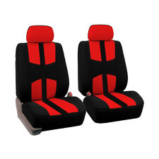 4Pcs Universal Car Front Seat Covers Kit Full Set Head Rest Protector Dustproof