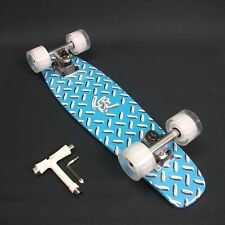 """Skateboard Maple timber 22""""x 6"""" Neon Blue Deck + FREE T Tool CLEARANCE SALE"""