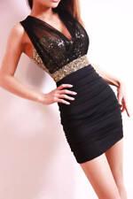 Sexy Women Girls Sequin Party Club Mini Bodycon Dress Evening Mesh Dress