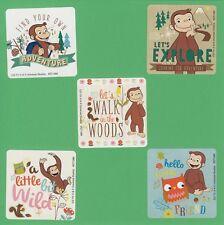 10 Curious George Adventure - Large Stickers - Party Favors - Rewards - Monkey