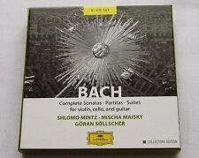 MINTZ-MAISKY-SOLLSCHER /BACH Complete sonatas, partitas, ....GERMANY 6CD box DGG