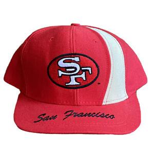 San Francisco 49ers Snapback Hat Cap NFL Nutmeg Mills Vintage 90s USA Made
