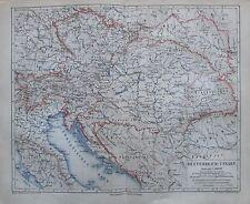 1875 Oesterreich-Ungarn alte historische Landkarte antique map Osztrák-Magyar